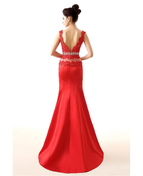 dress with beading trumpet backless fitted formal dress with lace beading