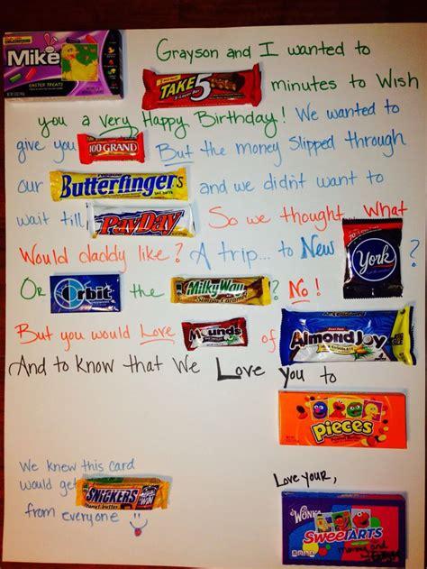 Candy Gift Card - birthday candy card candy bar cards pinterest birthday candy candy cards and