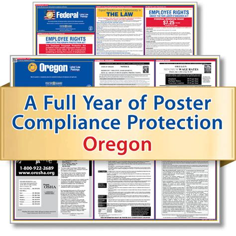 oregon service in laws oregon labor poster service state federal posters