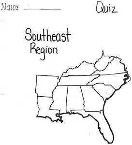 southeast united states map blank printables blank