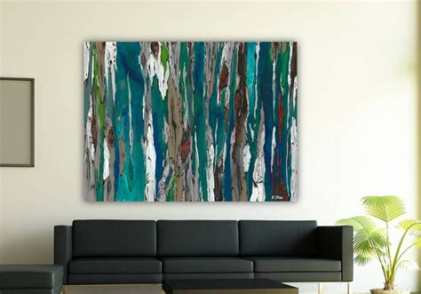 Large Wall Art | oversized blue canvas print extra large wall art dining room