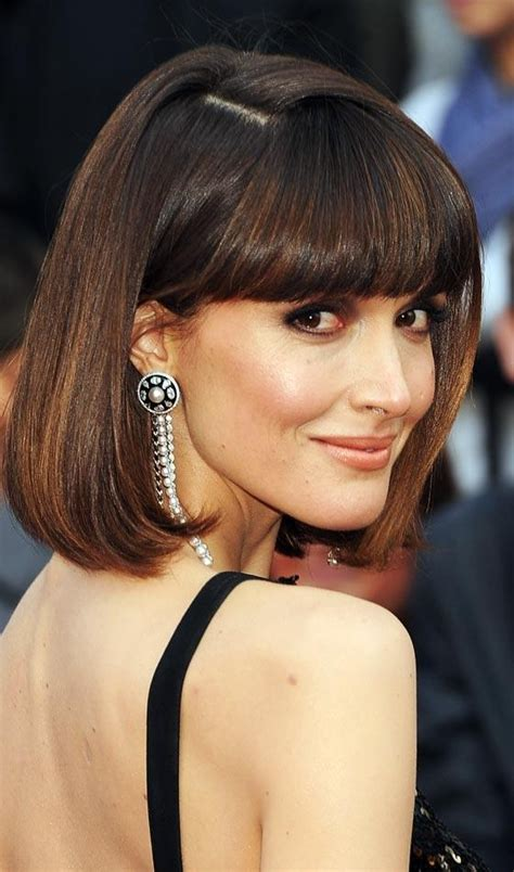 blunt end bob 2018 latest rose byrne parted blunt end bob hairstyles