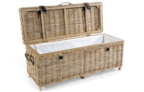 Wicker Storage Bench Rattan Storage Bench Rattan