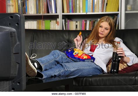 slouching on the couch girl slouch stock photos girl slouch stock images alamy