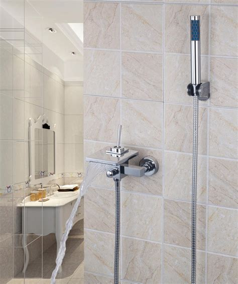wide shower bath 92255 square wide spout with handle shower single lever solid brass bathroom bath tap mixer