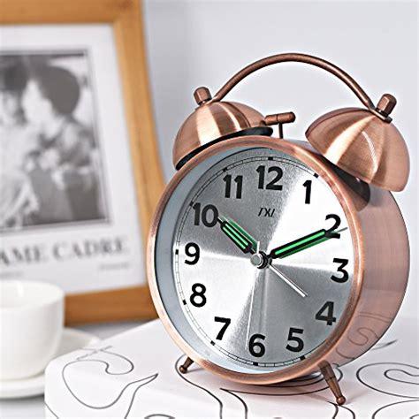 alarm clock bell quartz analog 4 5 bedside desk clock loud alarm light travel clock
