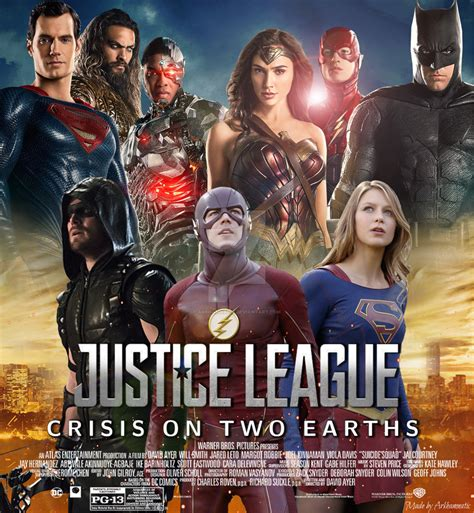 film justice league crisis on two earths justice league crisis on two earths movie poster by