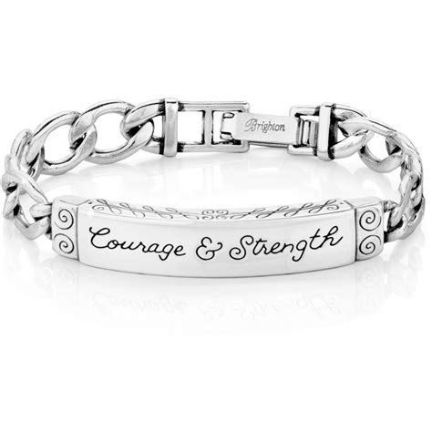 id bracelets courage strength id bracelet bracelets
