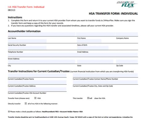Forms 24hourflex Hsa Enrollment Form Template