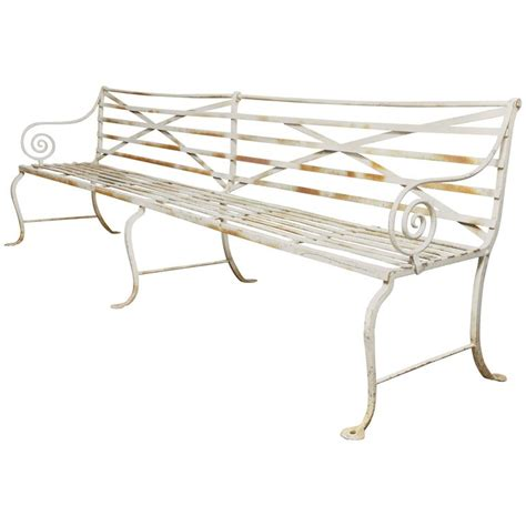 wrought iron bench for sale long wrought iron bench for sale at 1stdibs