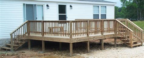 Double Car Garage Plans by Deck On Back Of Double Wide Trailer Rl Fence Amp Decks