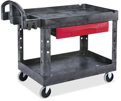 rubbermaid utility cart with drawer in stock uline ca