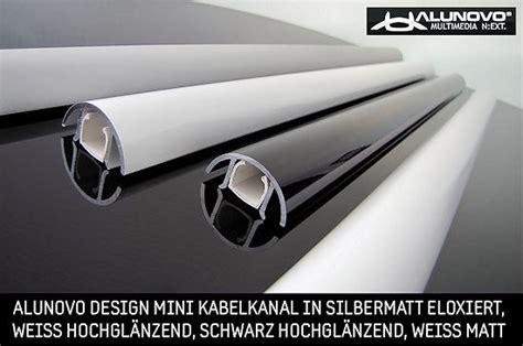 kabelkanal decke design alunovo 174 mini aluminium kabelkanal in weiss hochglanz