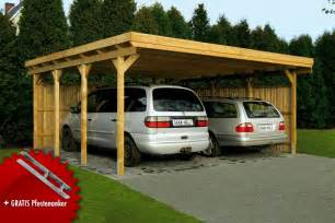 Rv Port Home Plans Holz Carport Skanholz 171 Lausitz 187 Flachdach Doppelcarport