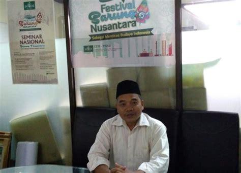 Sarung Nu sarung sebagai identitas budaya indonesia harus terus
