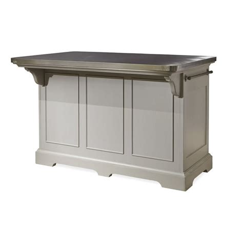 paula deen kitchen island paula deen home dogwood kitchen island in cobblestone and pewter 599644