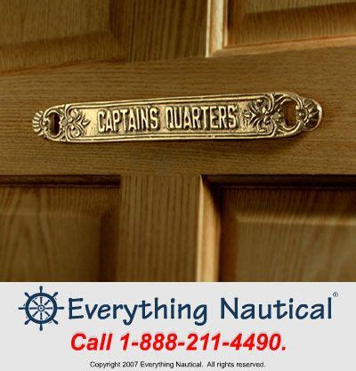 boat with bed and bathroom brass nautical wall plaque captain s quarters in 2019