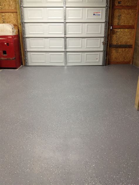 behr 1 part epoxy garage floor paint with metallic flakes from the home depot 31 gallon plus