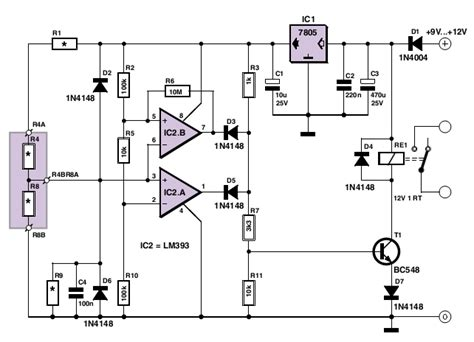 simple analogue electronic key circuit diagrams free