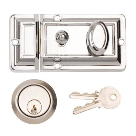 Yale Front Door Lock Front Door Lock Latch Yale Type Cylinder Traditional Polished Chrome Ebay