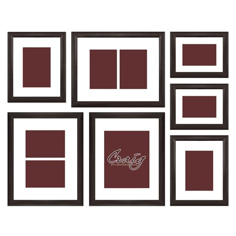 Matted Picture Frame Sets by Craig Frames Brown Picture Frame 7 Wall Set With