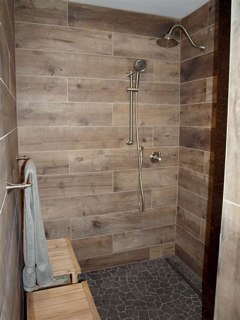 wood tile bathroom wood look tile bathroom peenmedia