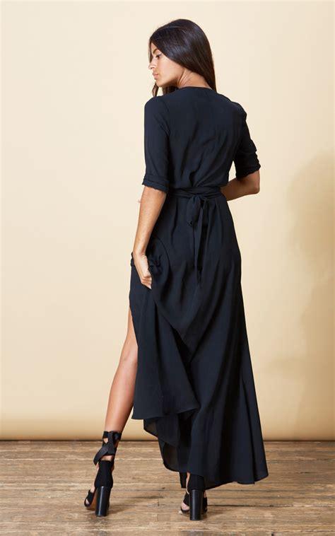Zahara Dress by Zahara Wrap Dress In Black Silkfred