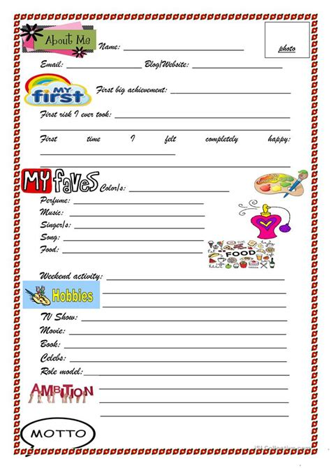 slam book pictures slam book worksheet free esl printable worksheets made