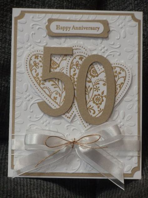 Handmade 50th Wedding Anniversary Cards - 25 best ideas about 50th anniversary cards on