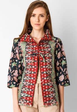 desain baju batik casual 13 model baju batik casual wanita muda lengan panjang