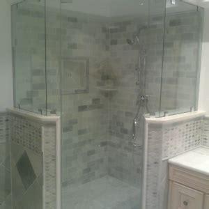 Bath & Shower: Beautiful Round Corner Showers With Glass