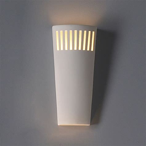 Contemporary Wall Lights Interior 7 5 Quot Parallelogram Ceramic Sconce W Light Grill