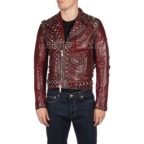 jacket design maker designer studded motorcycle leather jacket