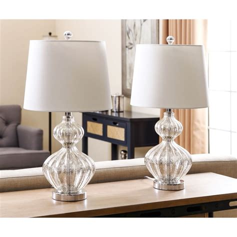 Mercury Glass Bedside L by Abbyson Living Mercury Glass Table L In Silver Set Of 2 Sp 15311 2pck M