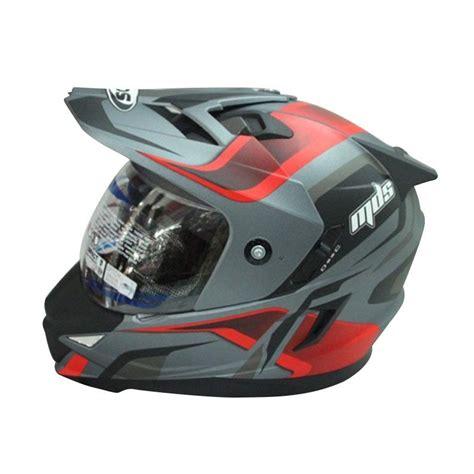 Helm Mds Superpro jual helm mds pro 2 all grey matt