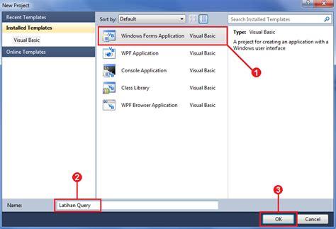 tutorial visual basic 2010 lengkap cara mengoneksikan database ms access dengan visual basic