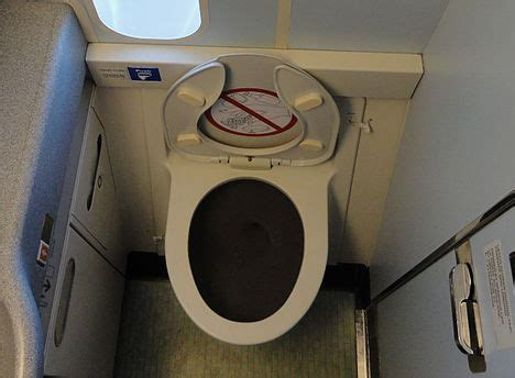 how to use airplane bathroom how airplane toilets flush core77