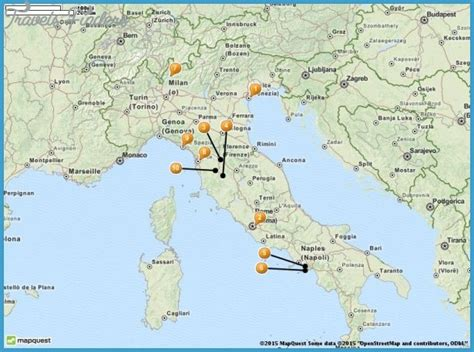 map of tourist attractions in italy map tourist attractions travelsfinders