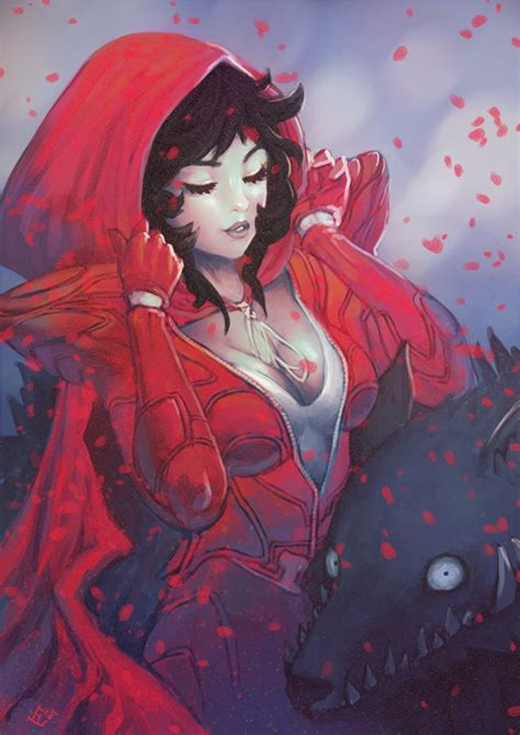 black hair with red riding hood red riding hood by wysoka on deviantart
