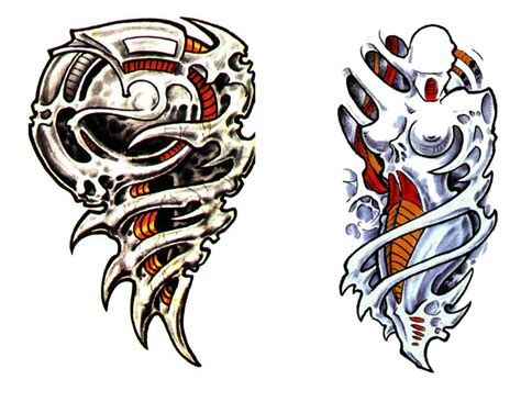 biomechanical tiger tattoo color ink biomechanical biceps tattoo photos pictures