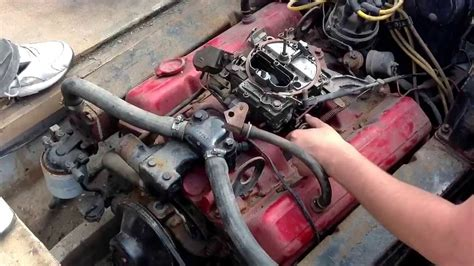 v8 fan boat v8 350 boat engine first try starting after four years of