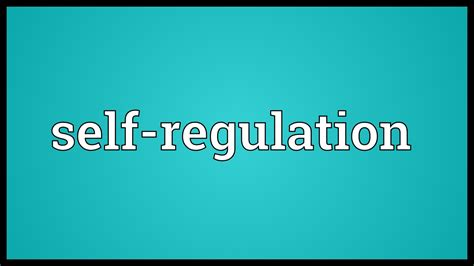 selves meaning self regulation meaning