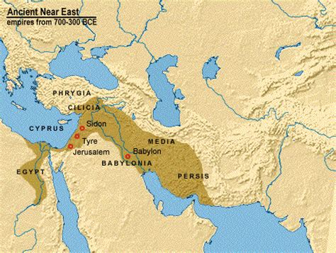 babylon and jerusalem map maps of assyrian babylonian and macedonian empires