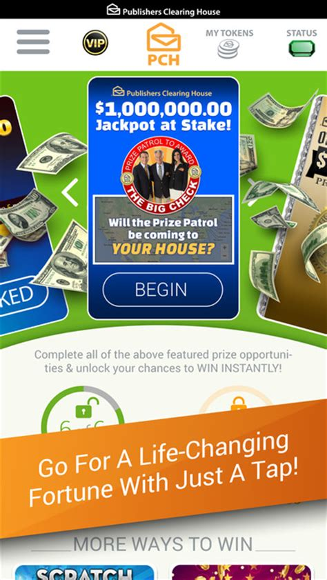 Pch Vip App - the pch app cash prizes sweepstakes mini games app report on mobile action