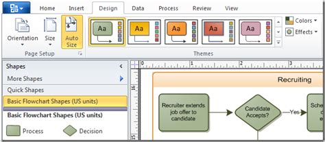 microsoft visio themes themes and live preview in visio 2010 visio insights