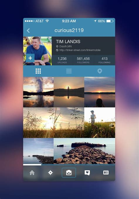 design dump instagram instagram app design and layout on pinterest