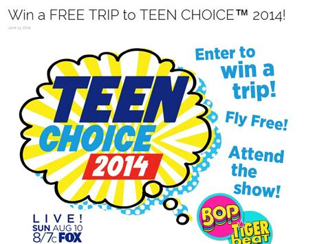 Teen Sweepstakes - teen choice 2014 sweepstakes