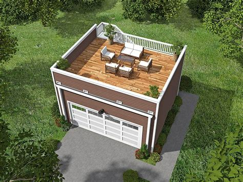 top deck garage with roof top deck 68436vr architectural