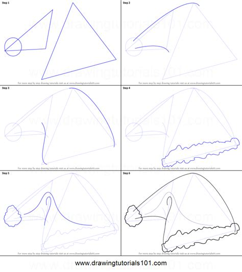 how to draw a template how to draw santa s hat printable step by step drawing