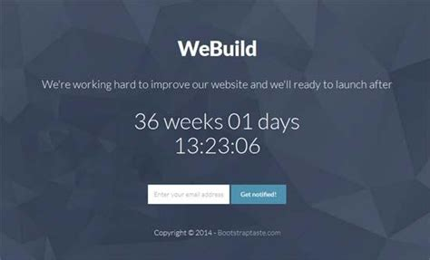 40 Free Html Coming Soon Maintenance Under Construction Website Templates Utemplates Free Construction Website Templates Bootstrap